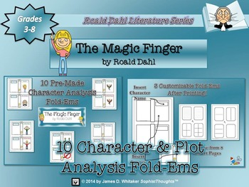 Magic Finger by Roald Dahl Character & Plot Analysis Fold-Ems