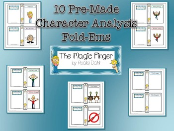 Magic Finger by Roald Dahl Character & Plot Analysis Fold-Ems