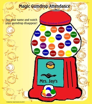 Magic Gumdrop Animated Attendance for the Smartboard