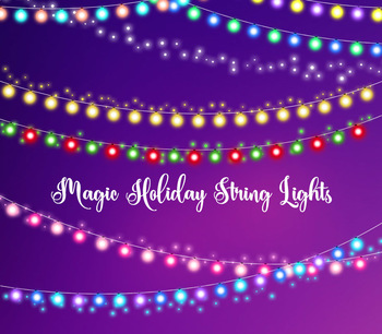 Christmas Lights Overlay Png.Magic Holiday String Lights Christmas Lights Fairy Garden Party Lights Overlay