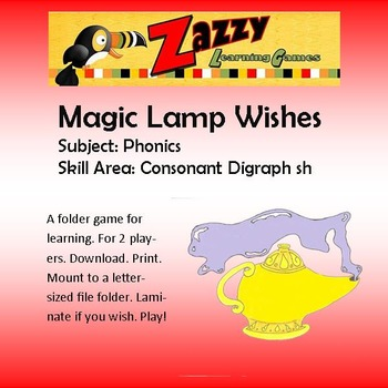 Magic Lamp Wishes Folder Game Phonics sh