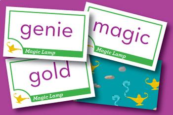 Magic Lamp hard and soft g Phonics Game
