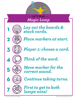 Magic Lamp hard and soft g Phonics Game - Words Their Way Game