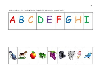 Alphabet Free Worksheet