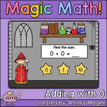 Magic Math: Adding with 0 Boom Cards