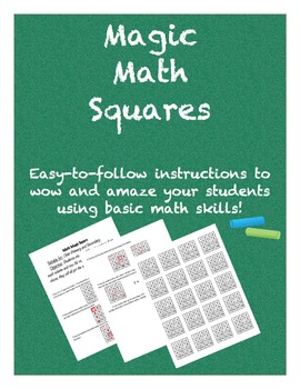 Magic Math Squares Pack
