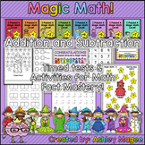 Magic Math Addition & Subtraction Timed Tests & Activities for Math Fact Fluency