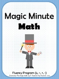 Magic Minute Math- Daily Facts & Fluency Skill Practice- C
