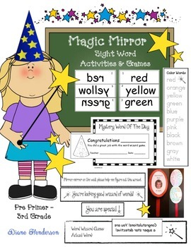 Magic Mirror Sight Word Activities and Games