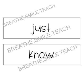 Magic Movement Word - Classroom Management Poster + First Grade ELA Words