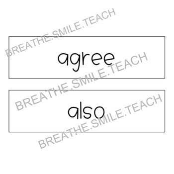 Magic Movement Word - Classroom Management Poster + Kindergarten ELA Words