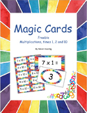 Magic Multiplication Cards Freebie