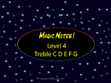 Magic Notes Level 4 C D E F G  Note Naming Flash Cards