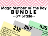 Magic Number of the Day 3rd Grade Growing Bundle