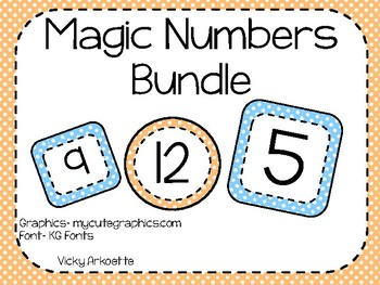 Magic Numbers Bundle- Polka Dot Theme