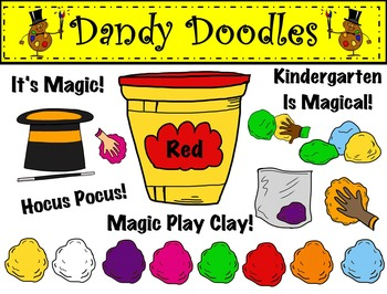 Magic Play Clay Clip Art by Dandy Doodles
