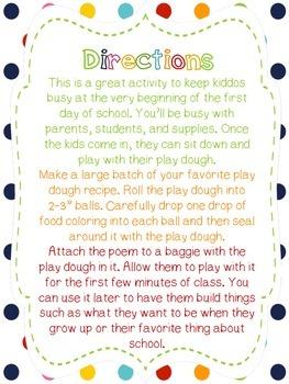 Magic Play Dough Poem
