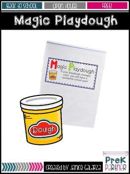 Magic Playdough Editable Labels