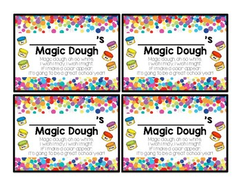 Magic Playdough Note