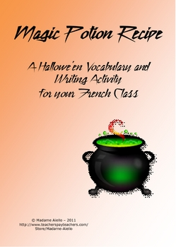 Magic Potion Recipe - Frenc... by TeachingFSL | Teachers Pay Teachers