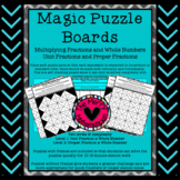 Magic Puzzle Board Multiplying Fractions and Whole Numbers