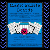 Magic Puzzle Boards -Solving Equations with One Variable