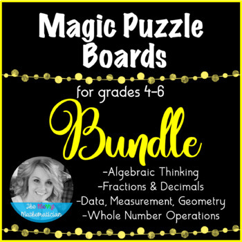 Magic Puzzle Boards for Math Grades 4-6 Forever Bundle
