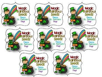Magic Rainbow Seeds Freebie Gift Tag for St. Patrick's Day
