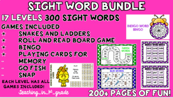 Sight Word Games and Activities- 17 Levels