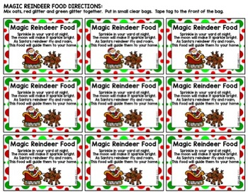 Magic Reindeer Food Freebie By Emilyjanecreates Tpt