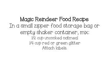 Magic Reindeer Food Labels