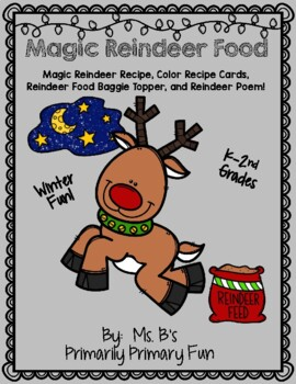 Magic Reindeer Recipe with Direction Cards