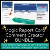Magic Report Card Comment Creator / Generator BUNDLE — Save Hours of Time!