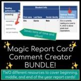 Magic Report Card Comment Creator / Generator BUNDLE — Sav