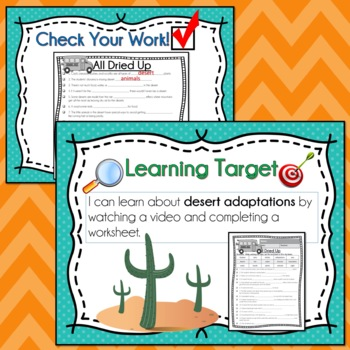 Magic School Bus ALL DRIED UP Video Guide, Sub Plan, Worksheets, Lesson DESERT
