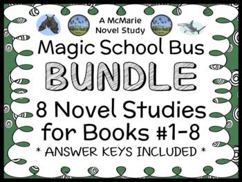 Magic School Bus BIG BUNDLE : 8 Novel Studies for Books #1-8 (186 pages)