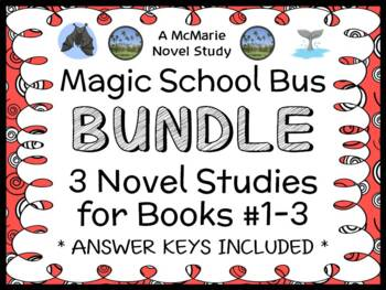 Magic School Bus BUNDLE : 3 Novel Studies for Books #1-3 (