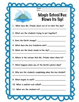 Magic School Bus Blows Its Top Film Questions