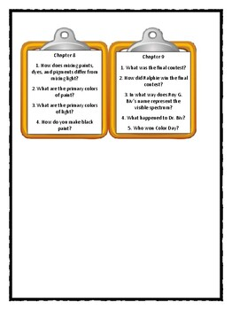 Magic School Bus COLOR DAY RELAY - Discussion Cards