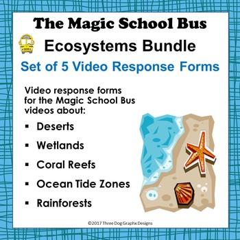 Ecosystems Bundle Set Of 5 Magic School Bus Video Response Worksheets