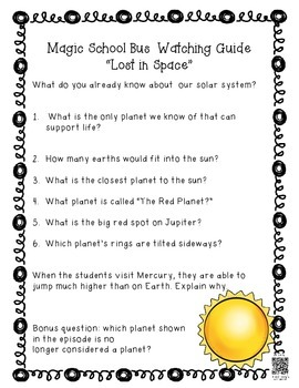 Magic School Bus Episode Guides - Space {PLUS Light & Sound!)