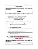Study Jams Properties of Matter Worksheet