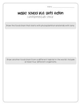 Magic School Bus Gets Eaten - Food Chains Worksheets