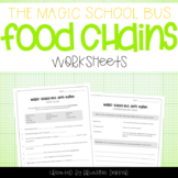 Magic School Bus Gets Eaten - Food Chains Worksheets