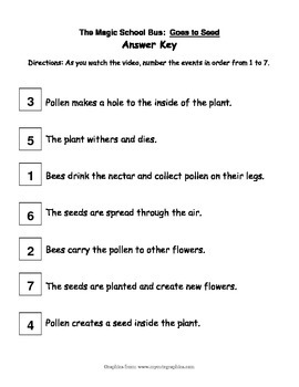 """Magic School Bus """"Goes to Seed"""" activity - Plant Cycle"""