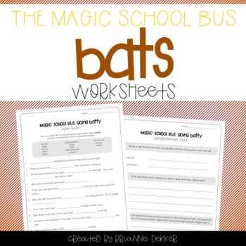 Magic School Bus Going Batty Bats Worksheets By Brianne Dekker