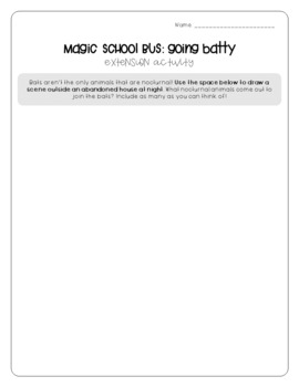 Magic School Bus Going Batty - Bats Worksheets