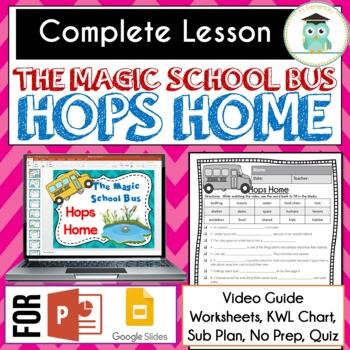 Magic School Bus HOPS HOME Video Guide, Sub Plan, No Prep Lesson HABITATS