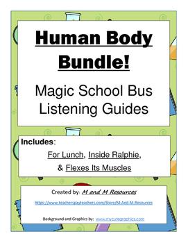 "Magic School Bus ""Human Body"" Listening Guides Bundle"