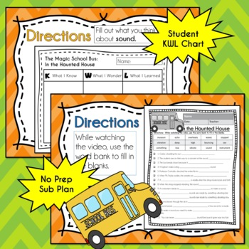 Magic School Bus IN THE HAUNTED HOUSE Video Guide, Sub Plan, No Prep Lesson